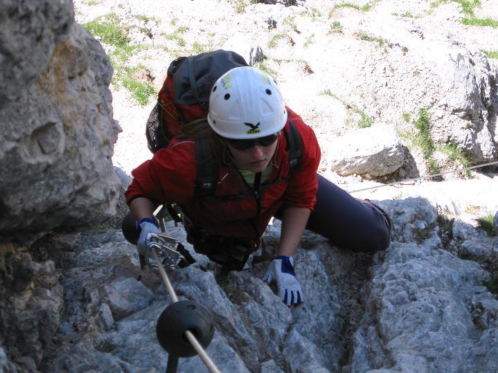 Foto: Andreas Koller / Klettersteig Tour / Via ferrata Col dei Bos / Via ferrata della Piramide (2559m) / 19.06.2009 23:38:50
