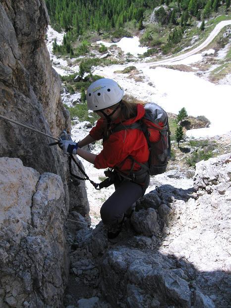 Foto: Andreas Koller / Klettersteig Tour / Via ferrata Col dei Bos / Via ferrata della Piramide (2559m) / 19.06.2009 23:38:42