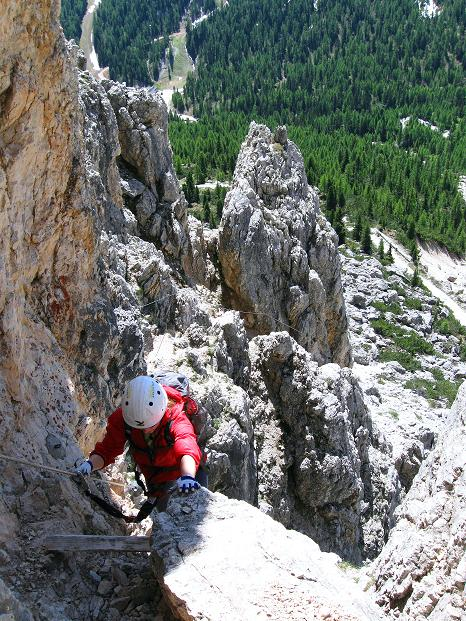 Foto: Andreas Koller / Klettersteig Tour / Via ferrata Col dei Bos / Via ferrata della Piramide (2559m) / 19.06.2009 23:37:46