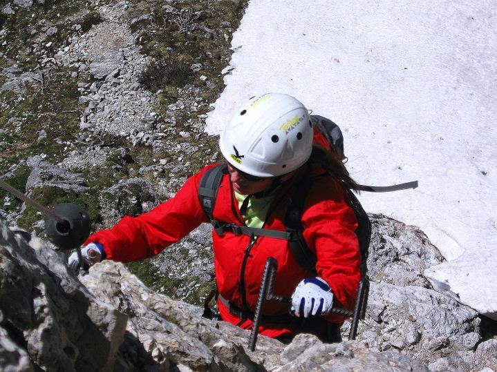 Foto: Andreas Koller / Klettersteig Tour / Via ferrata Col dei Bos / Via ferrata della Piramide (2559m) / 19.06.2009 23:36:59