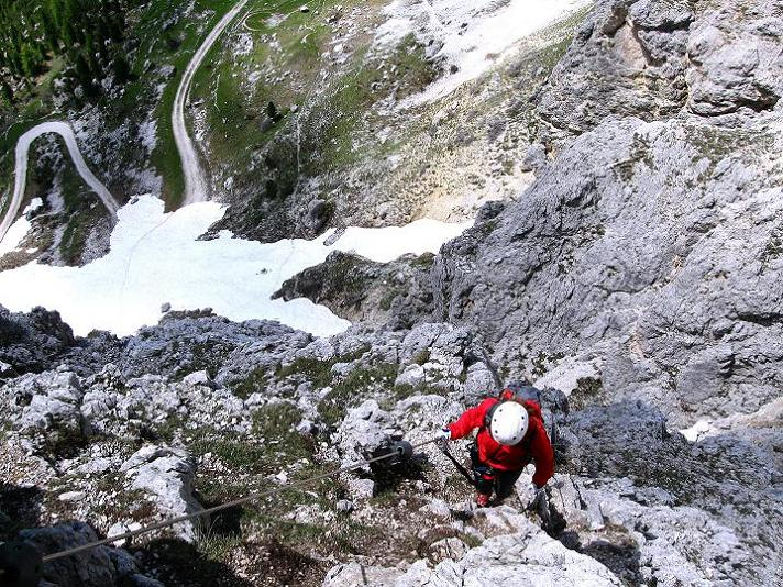 Foto: Andreas Koller / Klettersteig Tour / Via ferrata Col dei Bos / Via ferrata della Piramide (2559m) / 19.06.2009 23:35:41