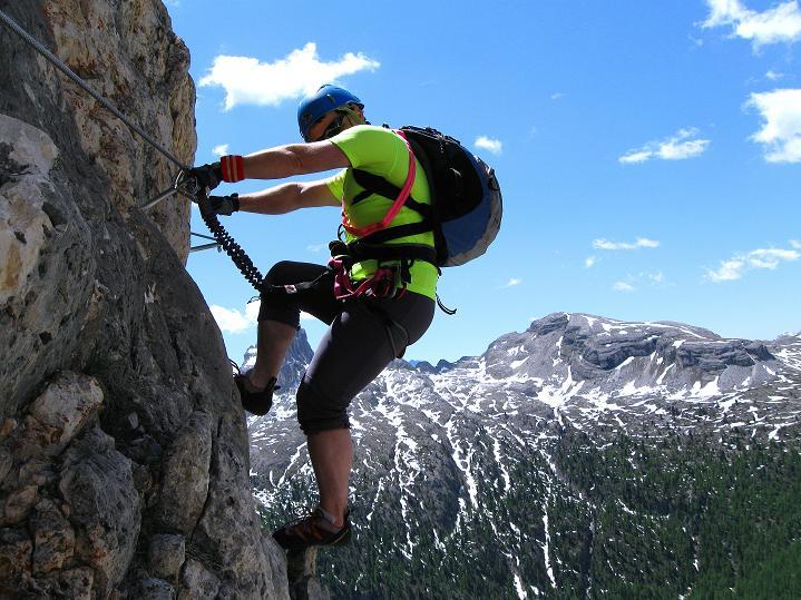 Foto: Andreas Koller / Klettersteig Tour / Via ferrata Col dei Bos / Via ferrata della Piramide (2559m) / 19.06.2009 23:34:38