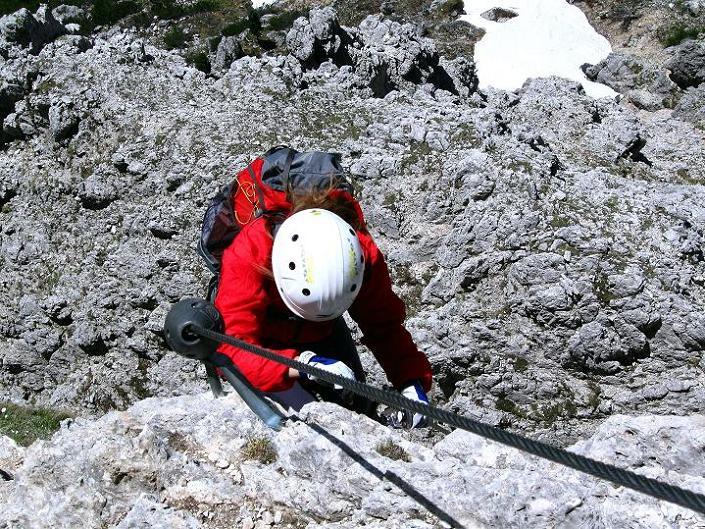 Foto: Andreas Koller / Klettersteig Tour / Via ferrata Col dei Bos / Via ferrata della Piramide (2559m) / 19.06.2009 23:34:28