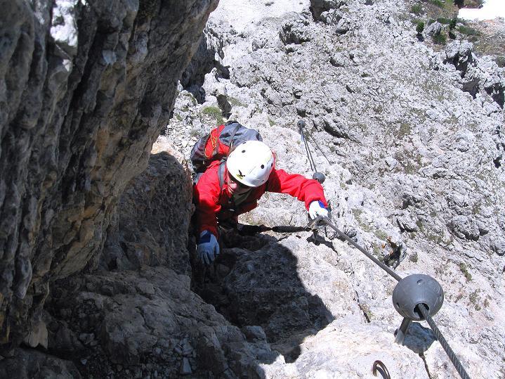 Foto: Andreas Koller / Klettersteig Tour / Via ferrata Col dei Bos / Via ferrata della Piramide (2559m) / 19.06.2009 23:33:34