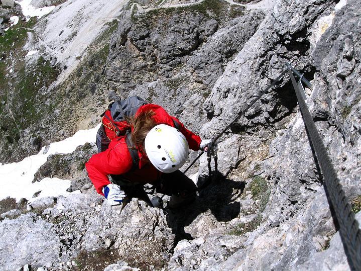 Foto: Andreas Koller / Klettersteig Tour / Via ferrata Col dei Bos / Via ferrata della Piramide (2559m) / 19.06.2009 23:33:23