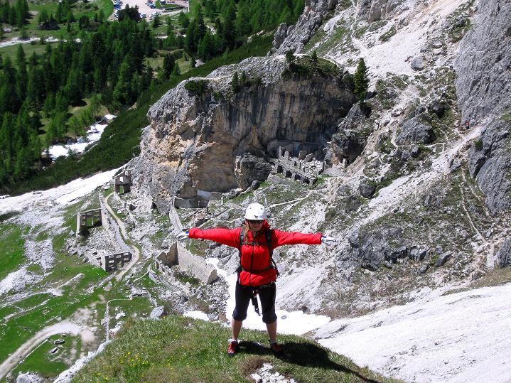 Foto: Andreas Koller / Klettersteig Tour / Via ferrata Col dei Bos / Via ferrata della Piramide (2559m) / 19.06.2009 23:32:50