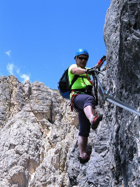 Foto: Andreas Koller / Klettersteig Tour / Via ferrata Col dei Bos / Via ferrata della Piramide (2559m) / 19.06.2009 23:32:12