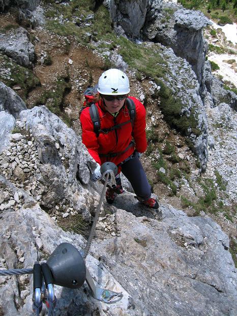 Foto: Andreas Koller / Klettersteig Tour / Via ferrata Col dei Bos / Via ferrata della Piramide (2559m) / 19.06.2009 23:32:03