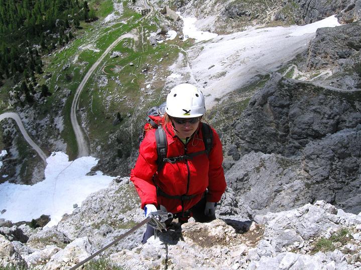 Foto: Andreas Koller / Klettersteig Tour / Via ferrata Col dei Bos / Via ferrata della Piramide (2559m) / 19.06.2009 23:31:40