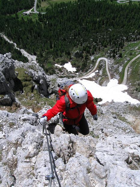 Foto: Andreas Koller / Klettersteig Tour / Via ferrata Col dei Bos / Via ferrata della Piramide (2559m) / 19.06.2009 23:31:32