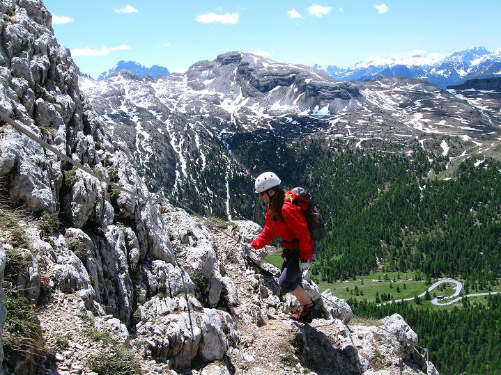 Foto: Andreas Koller / Klettersteig Tour / Via ferrata Col dei Bos / Via ferrata della Piramide (2559m) / 19.06.2009 23:30:52