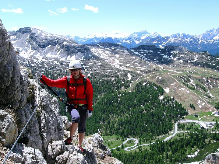 Foto: Andreas Koller / Klettersteig Tour / Via ferrata Col dei Bos / Via ferrata della Piramide (2559m) / 19.06.2009 23:30:43