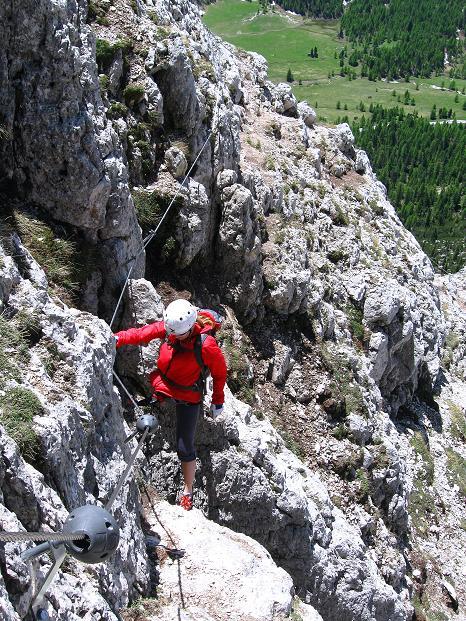 Foto: Andreas Koller / Klettersteig Tour / Via ferrata Col dei Bos / Via ferrata della Piramide (2559m) / 19.06.2009 23:30:32