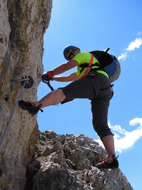 Foto: Andreas Koller / Klettersteig Tour / Via ferrata Col dei Bos / Via ferrata della Piramide (2559m) / 19.06.2009 23:30:24