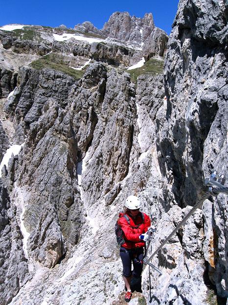 Foto: Andreas Koller / Klettersteig Tour / Via ferrata Col dei Bos / Via ferrata della Piramide (2559m) / 19.06.2009 23:30:17