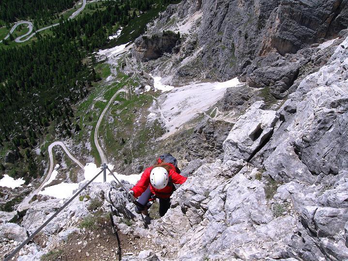 Foto: Andreas Koller / Klettersteig Tour / Via ferrata Col dei Bos / Via ferrata della Piramide (2559m) / 19.06.2009 23:30:02