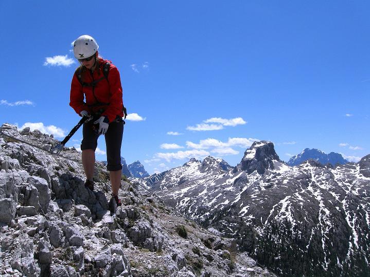 Foto: Andreas Koller / Klettersteig Tour / Via ferrata Col dei Bos / Via ferrata della Piramide (2559m) / 19.06.2009 23:29:53