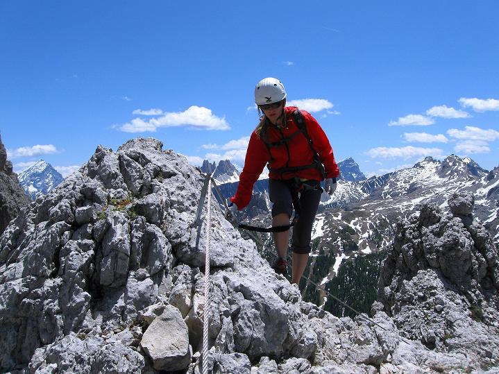 Foto: Andreas Koller / Klettersteig Tour / Via ferrata Col dei Bos / Via ferrata della Piramide (2559m) / 19.06.2009 23:29:27