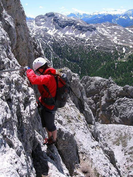 Foto: Andreas Koller / Klettersteig Tour / Via ferrata Col dei Bos / Via ferrata della Piramide (2559m) / 19.06.2009 23:29:05