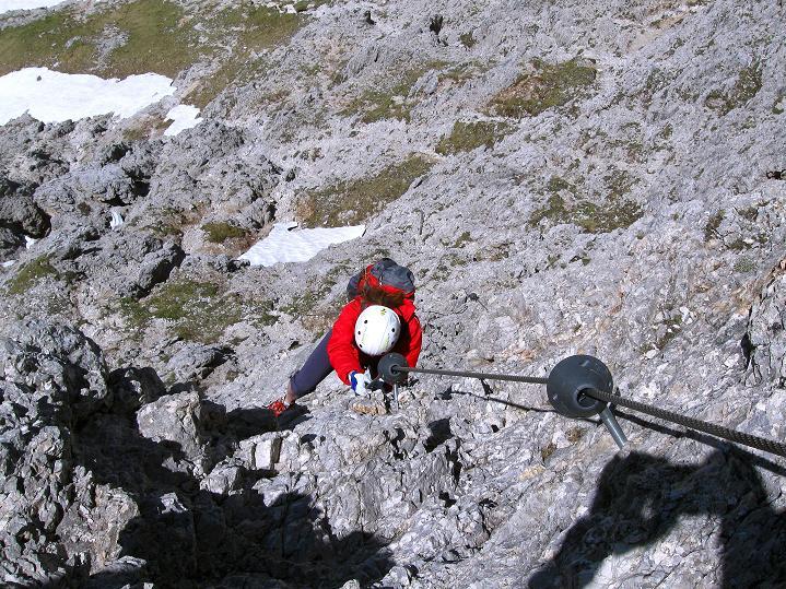 Foto: Andreas Koller / Klettersteig Tour / Via ferrata Col dei Bos / Via ferrata della Piramide (2559m) / 19.06.2009 23:28:55