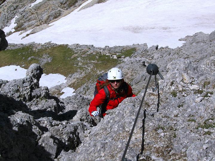 Foto: Andreas Koller / Klettersteig Tour / Via ferrata Col dei Bos / Via ferrata della Piramide (2559m) / 19.06.2009 23:28:44
