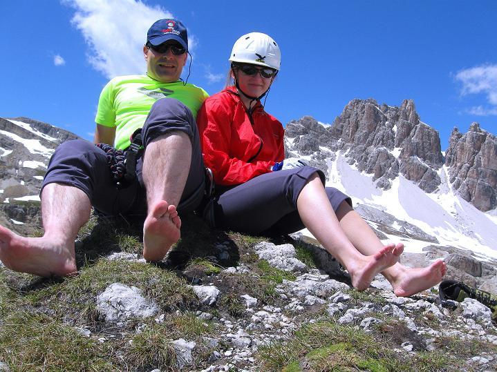 Foto: Andreas Koller / Klettersteig Tour / Via ferrata Col dei Bos / Via ferrata della Piramide (2559m) / 19.06.2009 23:27:23