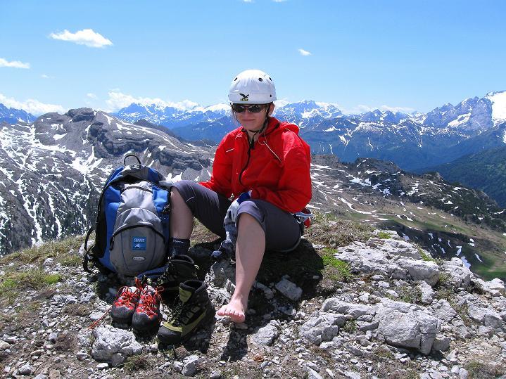 Foto: Andreas Koller / Klettersteig Tour / Via ferrata Col dei Bos / Via ferrata della Piramide (2559m) / 19.06.2009 23:27:14