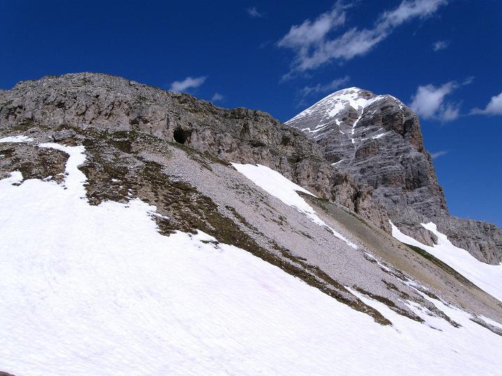 Foto: Andreas Koller / Klettersteig Tour / Via ferrata Col dei Bos / Via ferrata della Piramide (2559m) / Col dei Bos und Tofana di Rozes (3225 m) / 19.06.2009 23:26:41