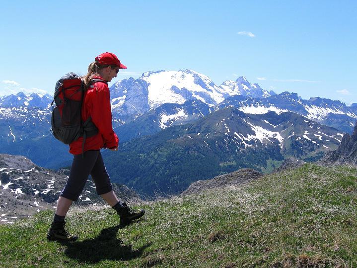 Foto: Andreas Koller / Klettersteig Tour / Via ferrata Col dei Bos / Via ferrata della Piramide (2559m) / Die letzten Meter zum Gipfel des Col dei Bos / 19.06.2009 23:25:31