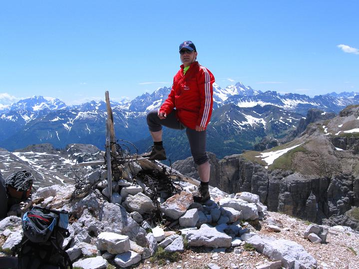 Foto: Andreas Koller / Klettersteig Tour / Via ferrata Col dei Bos / Via ferrata della Piramide (2559m) / 19.06.2009 23:24:45