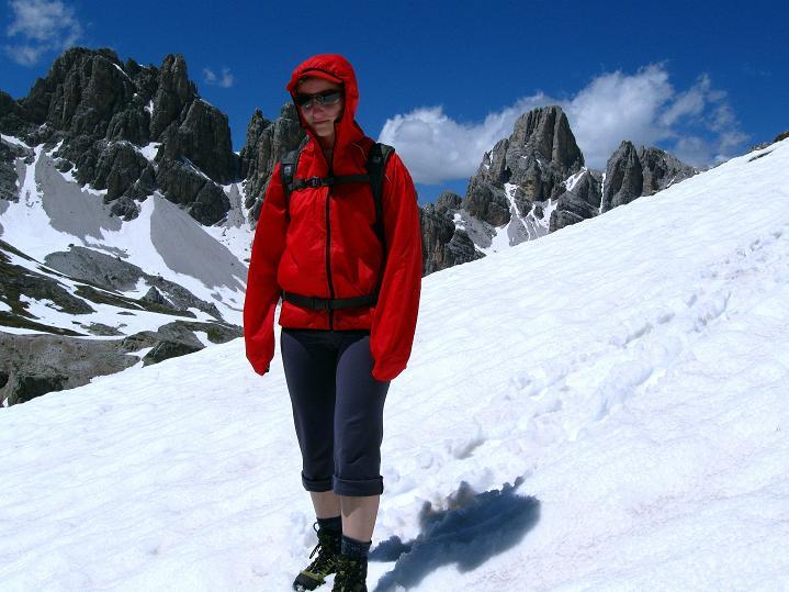 Foto: Andreas Koller / Klettersteig Tour / Via ferrata Col dei Bos / Via ferrata della Piramide (2559m) / Abstieg nach NO vom Col dei Bos / 19.06.2009 23:24:22