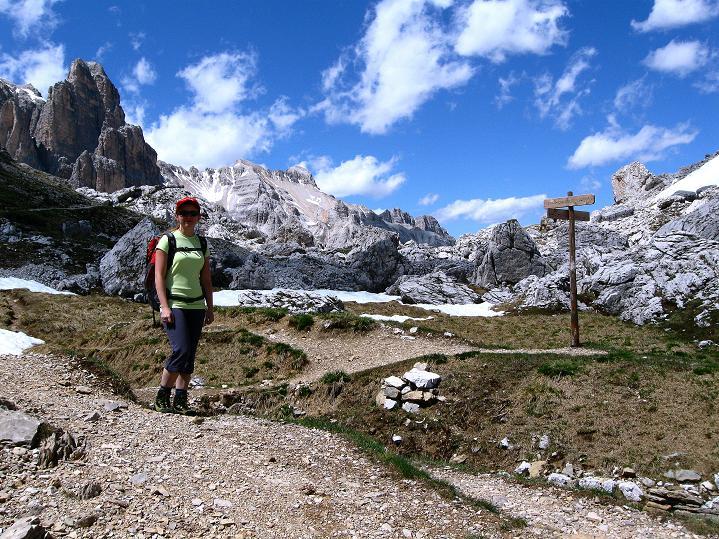 Foto: Andreas Koller / Klettersteig Tour / Via ferrata Col dei Bos / Via ferrata della Piramide (2559m) / In der Forc. Col dei Bos / 19.06.2009 23:22:58