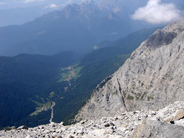 Foto: Manfred Karl / Klettersteig Tour / Hohe Warte – Weg der 26er - Überschreitung aus dem Wolayer Tal  / 17.07.2009 17:33:27