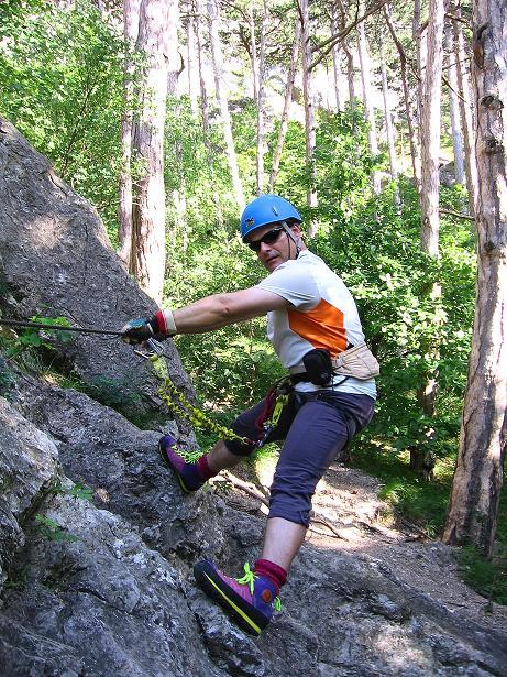 Foto: Andreas Koller / Klettersteig Tour / Mödlinger Klettersteig / Robert Karpfen Klettersteig (360m) / 20.06.2009 00:49:15