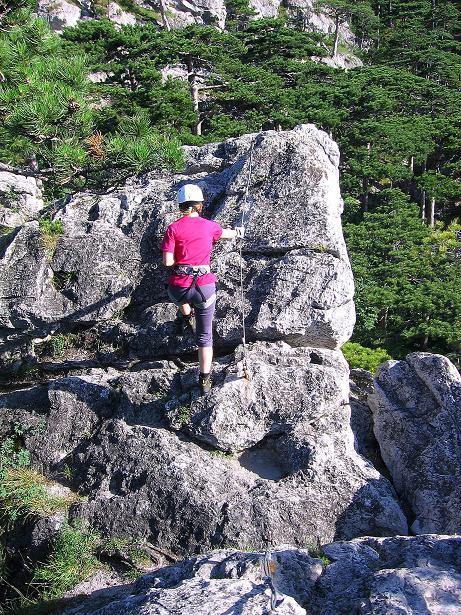 Foto: Andreas Koller / Klettersteig Tour / Mödlinger Klettersteig / Robert Karpfen Klettersteig (360m) / 20.06.2009 00:47:51