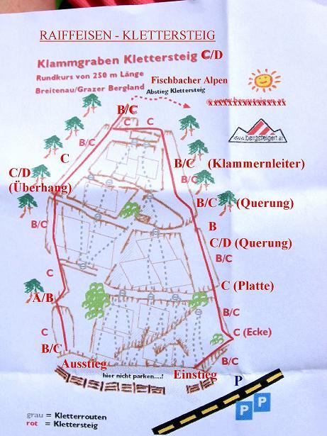 Foto: Andreas Koller / Klettersteig Tour / Raiffeisen Klettersteig Klammgraben (820m) / 22.06.2009 02:01:23