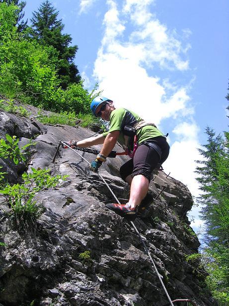 Foto: Andreas Koller / Klettersteig Tour / Raiffeisen Klettersteig Klammgraben (820m) / 22.06.2009 02:01:18