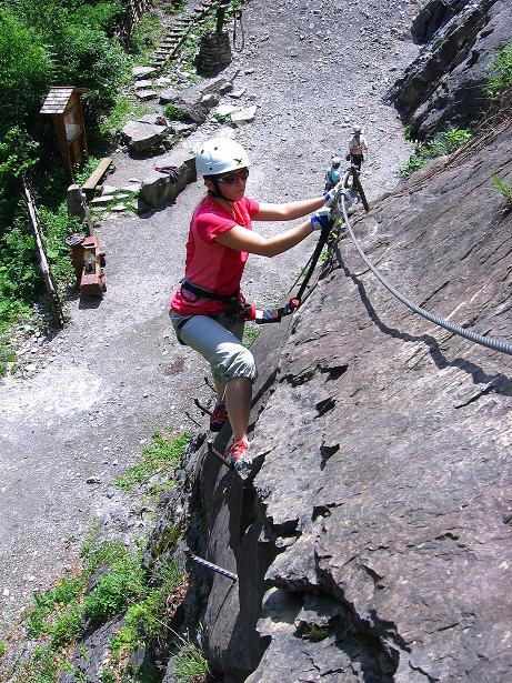 Foto: Andreas Koller / Klettersteig Tour / Raiffeisen Klettersteig Klammgraben (820m) / 22.06.2009 02:01:11