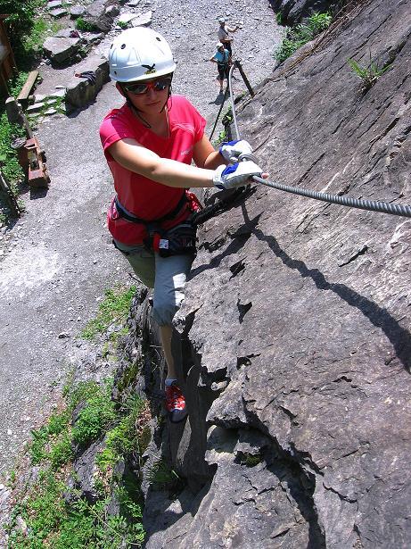 Foto: Andreas Koller / Klettersteig Tour / Raiffeisen Klettersteig Klammgraben (820m) / 22.06.2009 02:01:06