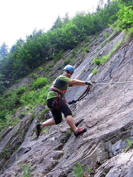 Foto: Andreas Koller / Klettersteig Tour / Raiffeisen Klettersteig Klammgraben (820m) / 22.06.2009 02:00:44