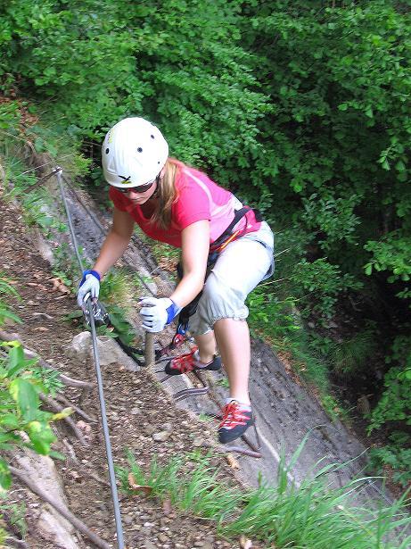 Foto: Andreas Koller / Klettersteig Tour / Raiffeisen Klettersteig Klammgraben (820m) / 22.06.2009 01:59:57