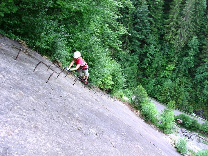 Foto: Andreas Koller / Klettersteig Tour / Raiffeisen Klettersteig Klammgraben (820m) / 22.06.2009 01:59:31