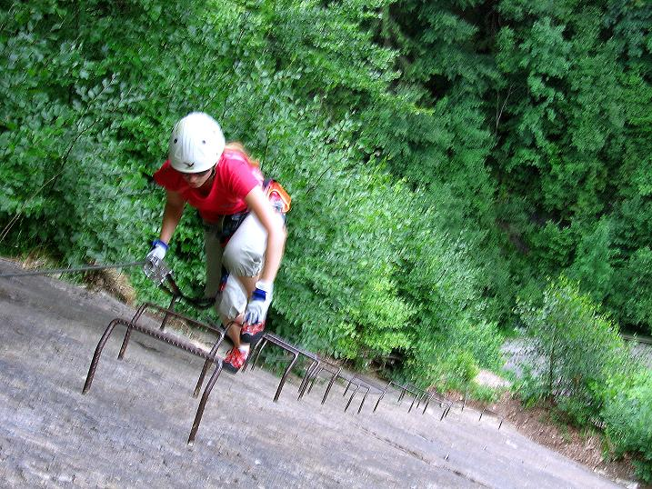 Foto: Andreas Koller / Klettersteig Tour / Raiffeisen Klettersteig Klammgraben (820m) / 22.06.2009 01:59:23