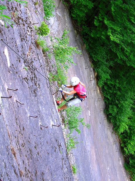 Foto: Andreas Koller / Klettersteig Tour / Raiffeisen Klettersteig Klammgraben (820m) / 22.06.2009 01:59:14