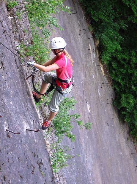 Foto: Andreas Koller / Klettersteig Tour / Raiffeisen Klettersteig Klammgraben (820m) / 22.06.2009 01:58:58