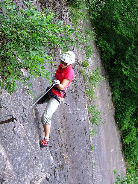 Foto: Andreas Koller / Klettersteig Tour / Raiffeisen Klettersteig Klammgraben (820m) / 22.06.2009 01:58:43