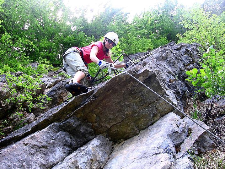 Foto: Andreas Koller / Klettersteig Tour / Raiffeisen Klettersteig Klammgraben (820m) / 22.06.2009 01:58:27