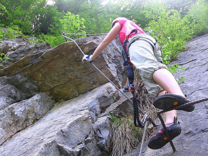 Foto: Andreas Koller / Klettersteig Tour / Raiffeisen Klettersteig Klammgraben (820m) / 22.06.2009 01:58:17