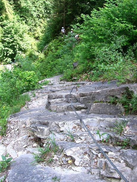 Foto: Andreas Koller / Klettersteig Tour / Raiffeisen Klettersteig Klammgraben (820m) / 22.06.2009 01:58:01