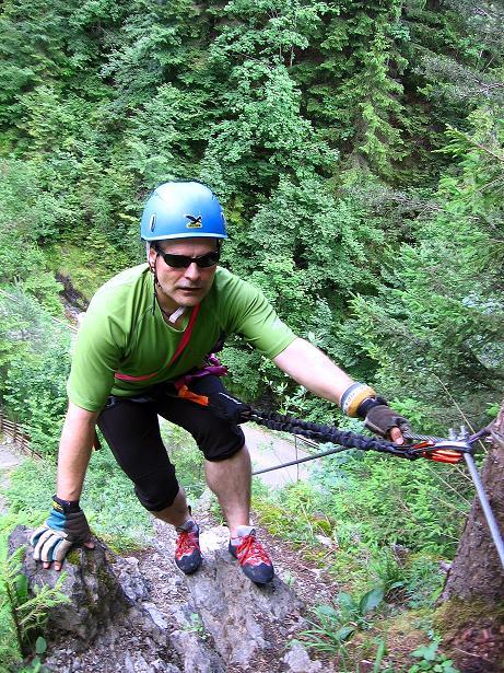Foto: Andreas Koller / Klettersteig Tour / Raiffeisen Klettersteig Klammgraben (820m) / 22.06.2009 01:57:35